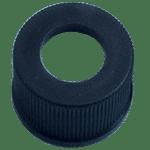 Capuchon à visser noir 13 mm en PP avec trou central de 8,5 mm ref 130800