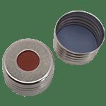 Capuchon à visser magnétique avec joint en butyl rouge/PTFE gris 55° shore A, 1,6mm ref 18080802