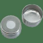 Capuchon à visser magnétique avec joint en silicone blanc/aluminium 50° shore A, 1,3mm ref 18080807