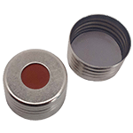 Capuchon à visser magnétique avec joint en butyl rouge/PTFE gris 55° shore A, 1,6mm ref 18080808